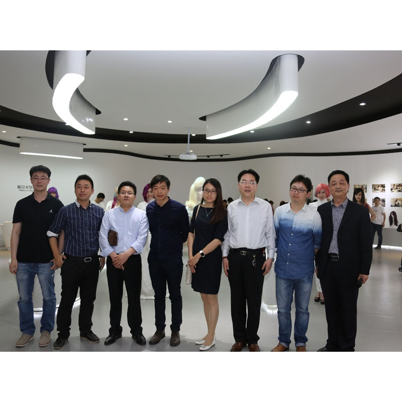 Xuchang City International Trade Network Association- photo with other  city assocication leaders in rebecca business college