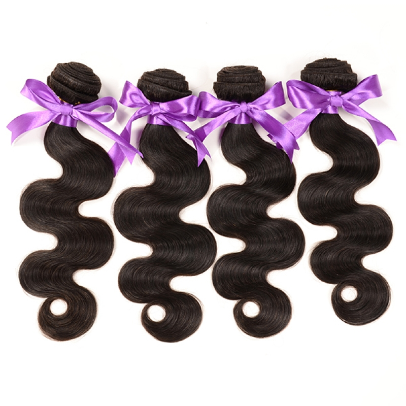 High quality huaman virgin hair 4 boundles lot unprocessed body hair weave