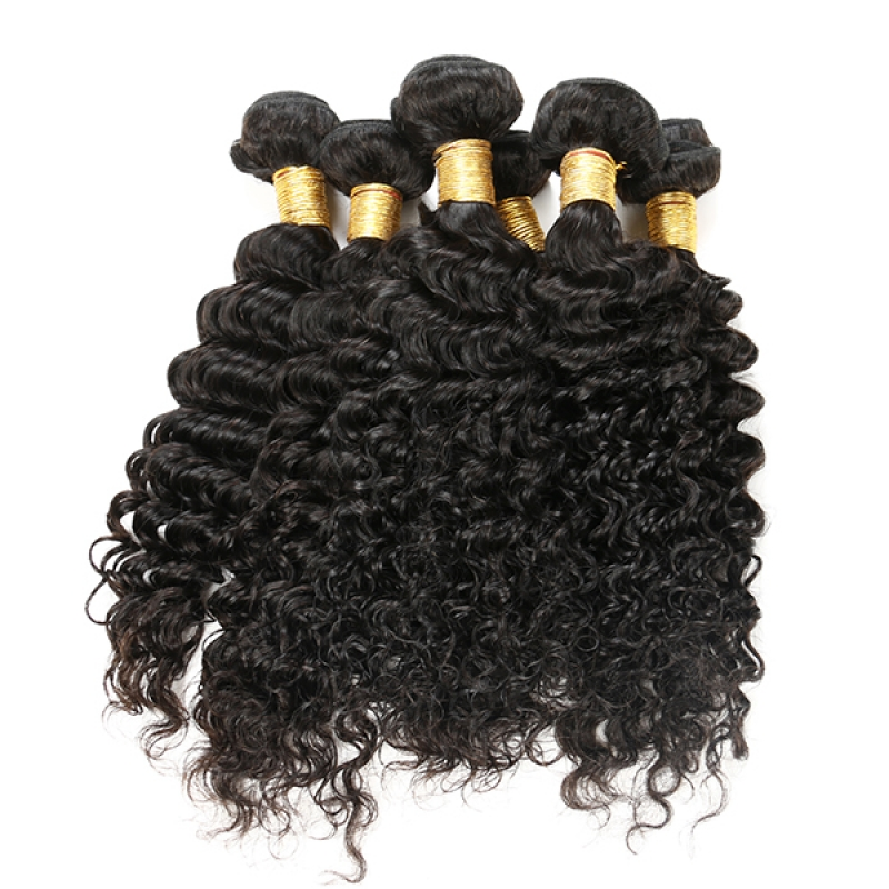 Double Weft 100g Unprocessed Wholesale Virgin Indian Deep Wave Hair