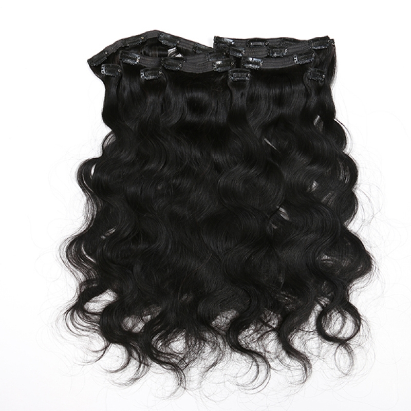 clip in human hair  Brazilian  100% remy human hair extension sample welcomed