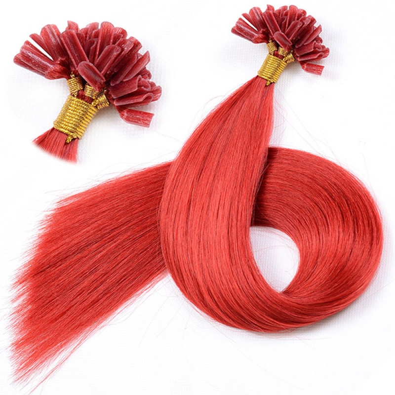 Hot Selling 100% hair prebonded u tip keratin hair extensions