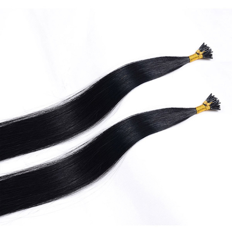 Grade 7A factory supplier 100% human hair keratin hair extension I tip hair extension wholesale