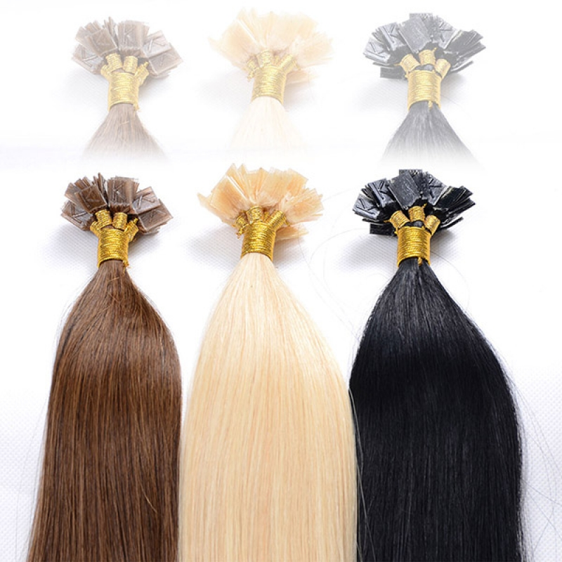 Human Hair Products 18 inch Paypal Accepted Wholesale Flat Tip Hair Extension
