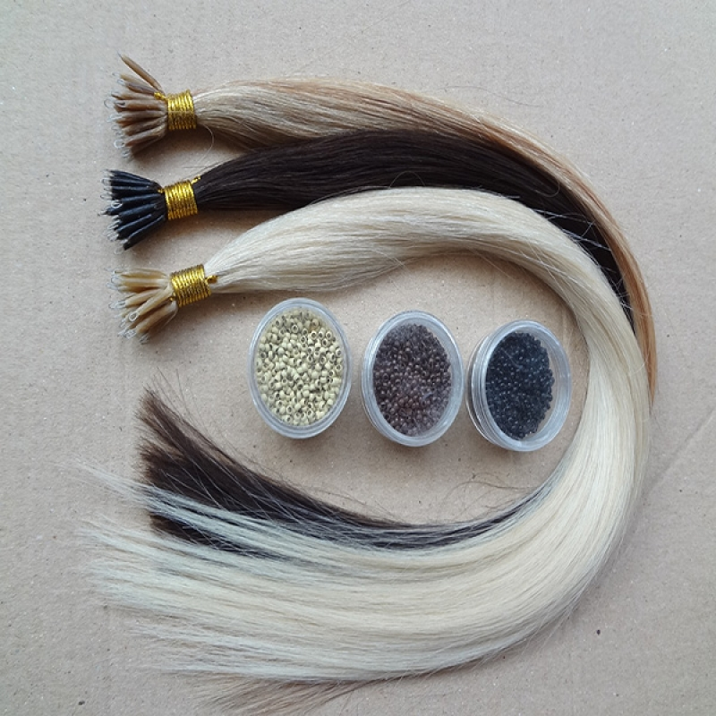 Wholesale Silky Straight Remy Nano Micro Loop Hair Extension