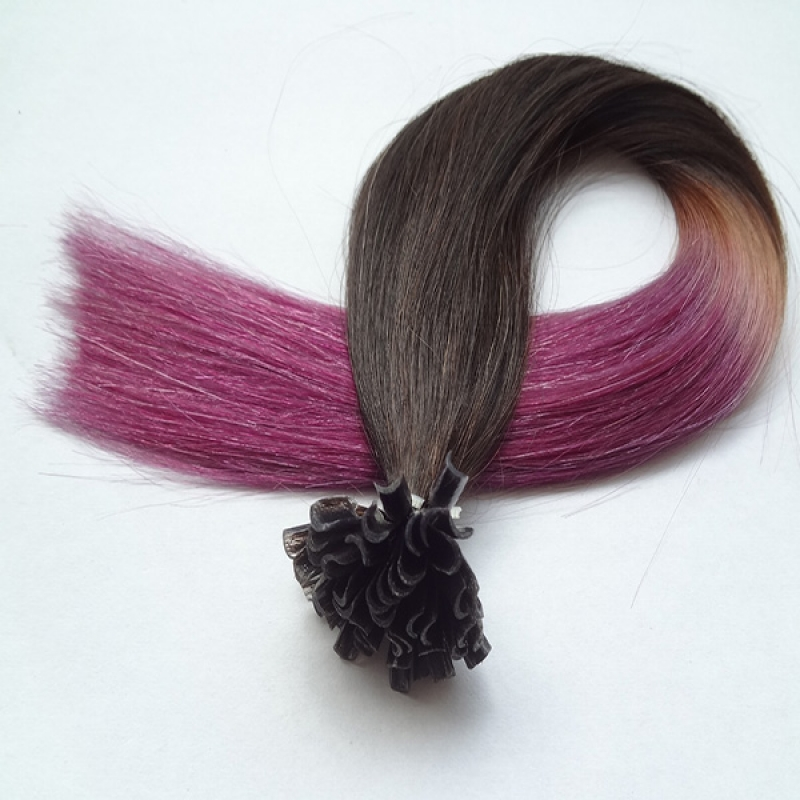 Omber Two Tone I Tip Stick TIp Brazilian Virgin Human Hair Extensions