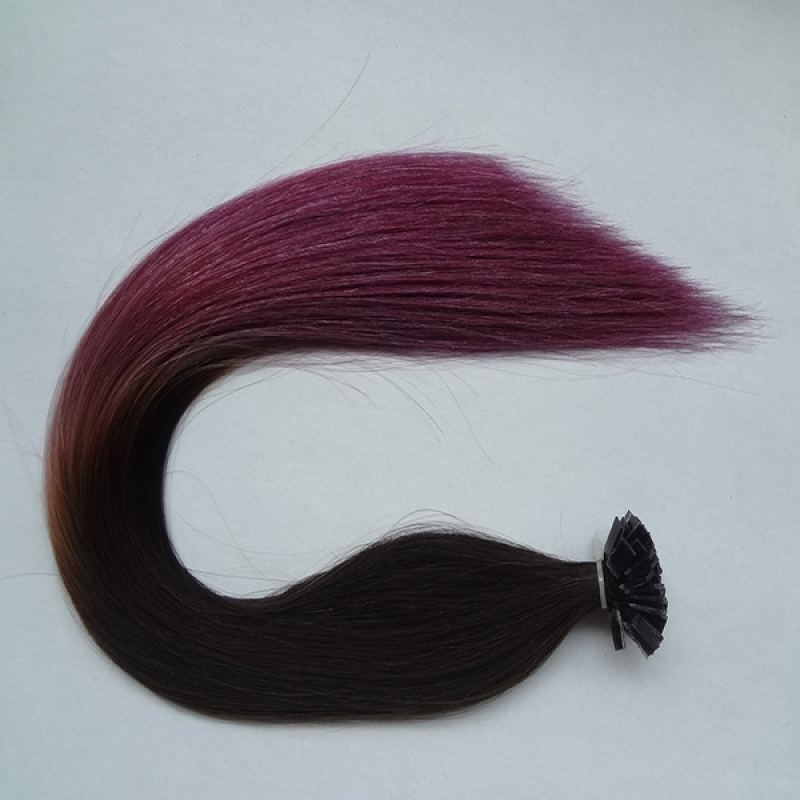 hot two tone omber color U tip human hair extensions