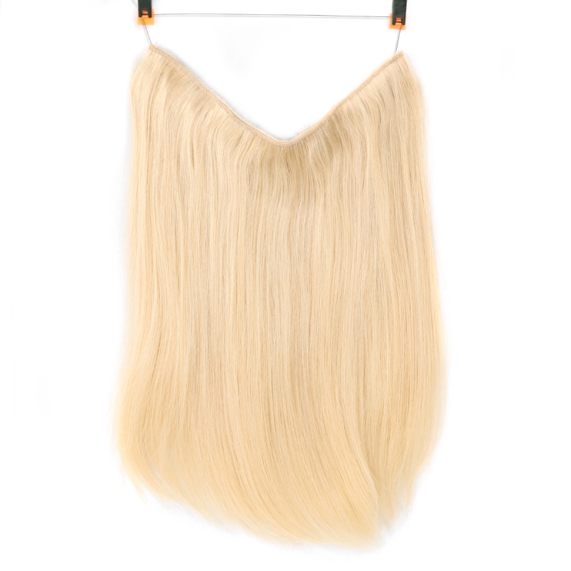 Halo Hair Extensions European Remy For White Straight